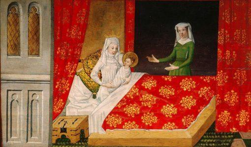 Legend of St Ursula: Birth of St Ursula   German School th Century   Unknown   Oil Painting