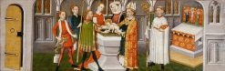 Legend of St Ursula: Baptism of St Ursula | German School th Century   Unknown | Oil Painting