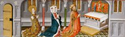 Legend of St Ursula: St Ursula with her Parents in the Chapel | German School th Century   Unknown | Oil Painting