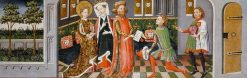 Legend of St Ursula: The Envoys bring the Heathen King's Request to St Ursula's Parents | German School th Century   Unknown | Oil Painting