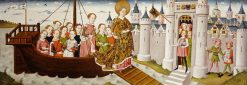 Legend of St Ursula: Arrival in Tiel | German School th Century   Unknown | Oil Painting