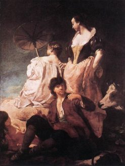 Idyll at the Coast | Giovanni Battista Piazzetta | Oil Painting