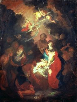 The Adoration of the Shepherds | Giuseppe Bazzani | Oil Painting