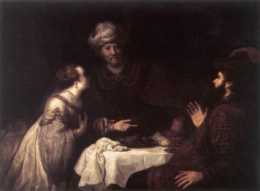 Esther and Haman before Ahasuerus | Jan Victors | Oil Painting
