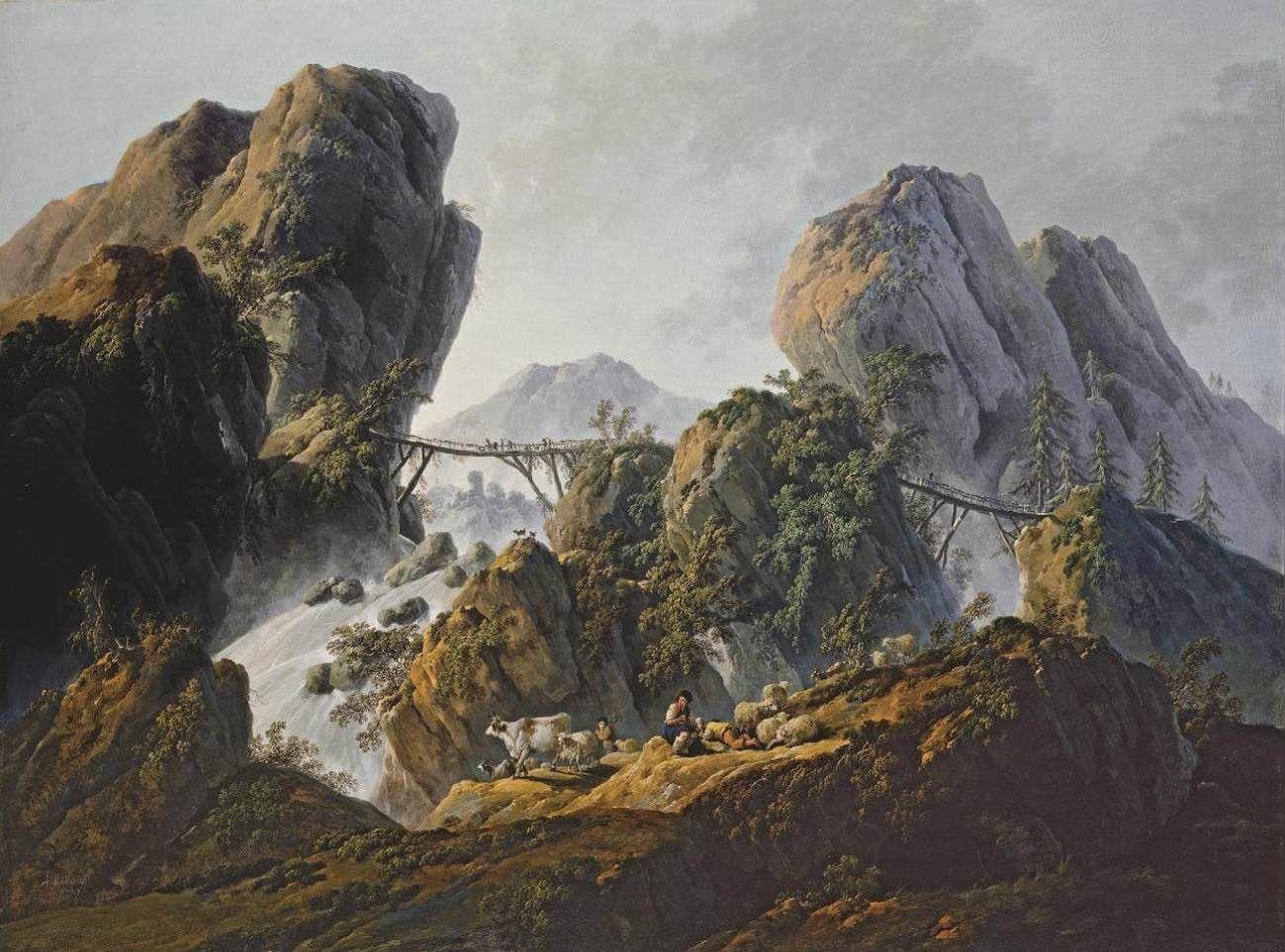 Mountainous Landscape | Jean Pillement | Oil Painting
