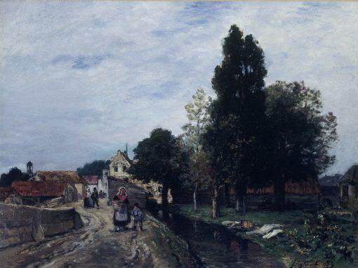 Landscape in Normandy   Johan Barthold Jongkind   Oil Painting