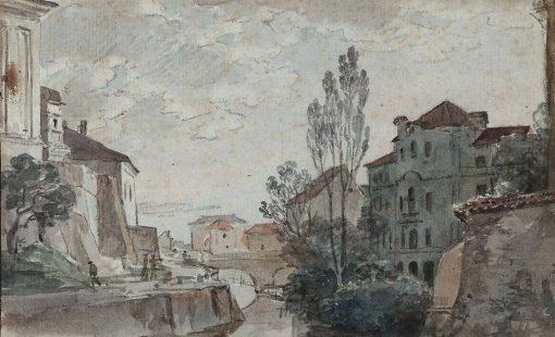 Italian Town | Johann Georg von Dillis | Oil Painting