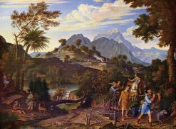 Landscape with the Scouts from the Promised Land | Joseph Anton Koch | Oil Painting