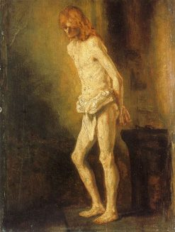 Christ at the Column (attributed) | Rembrandt van Rijn | Oil Painting