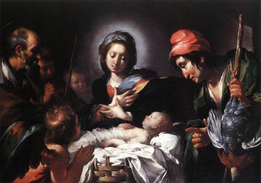 Adoration of the Shepherds   Bernardo Strozzi   Oil Painting