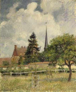 The Church at Eragny | Camille Pissarro | Oil Painting