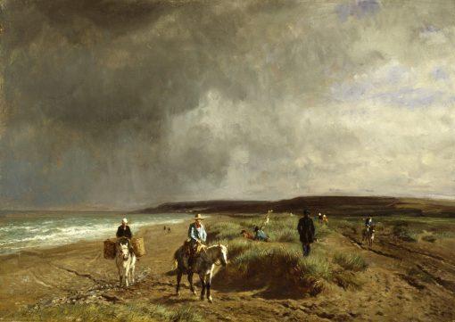 Coast near Villers   Constant Troyon   Oil Painting