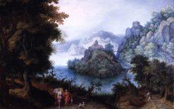 Landscape with Tobias and the Angel | Denijs van Alsloot | Oil Painting
