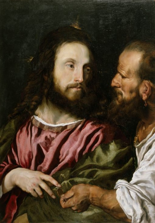 Christ and the Tribute Money (copy after Titian) | Domenico Fetti | Oil Painting