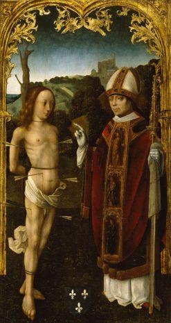 Saint Sebastian and a Bishop Saint | Dutch School th Century   Unknown | Oil Painting