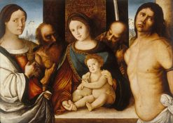 Madonna and Child with Saints | Francesco di Bosio Zaganelli | Oil Painting