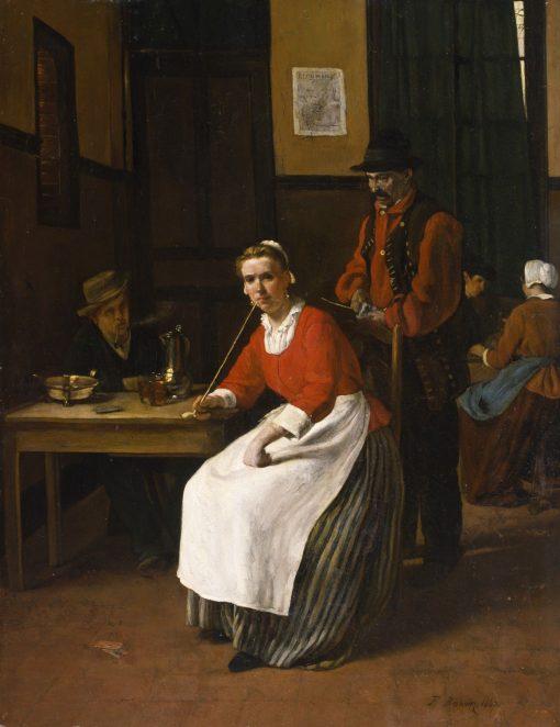 Interior of a Tavern   Francois Bonvin   Oil Painting