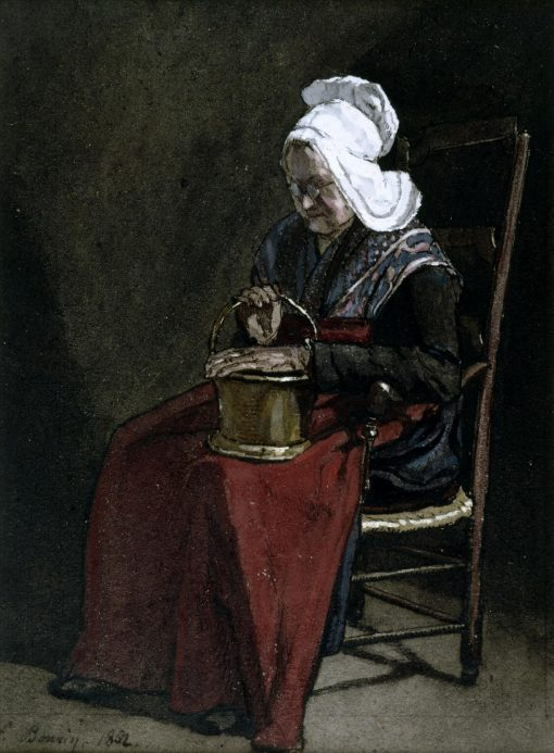 Old Woman with Copper Pot | Francois Bonvin | Oil Painting