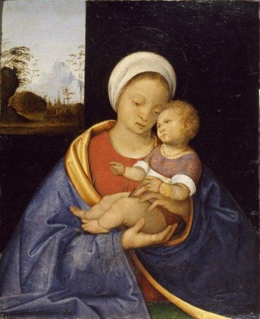 Madonna and Child   Giiovanni Agostino da Lodi   Oil Painting