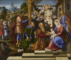 The Adoration of the Three Kings | Girolamo da Santa Croce | Oil Painting