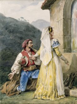 Italian Peasants at a Shrine | Horace Vernet | Oil Painting