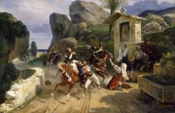 Italian Brigands Surprised by Papal Troops | Horace Vernet | Oil Painting