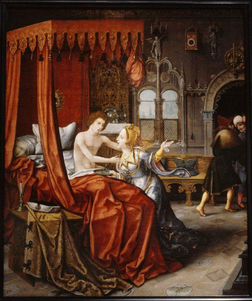 Amnon Attacking Tamar   Jan van Dornicke   Oil Painting