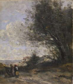 The Fisherman's Cottage | Jean Baptiste Camille Corot | Oil Painting