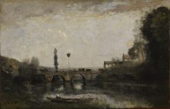 Landscape with Bridge | Jean Baptiste Camille Corot | Oil Painting