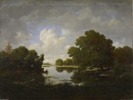 Banks of the Bouzanne River | Jean Jacques Rousseau | Oil Painting