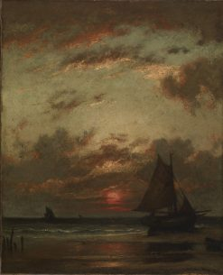 Sunset on the Coast | Jules DuprE | Oil Painting