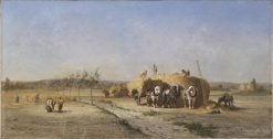 Harvest Scene | Jules Jacques Veyrassat | Oil Painting