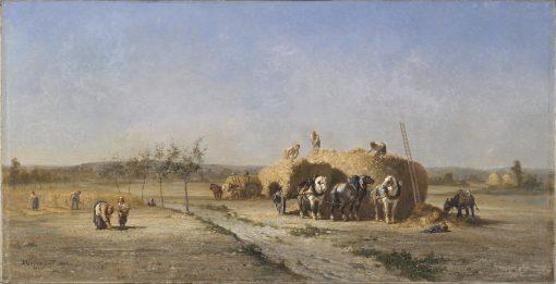 Harvest Scene | Jules Jacques Veyrassat | Oil Painting