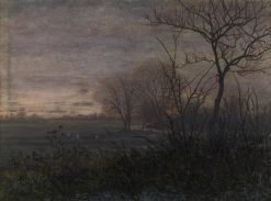 Plowing at Dusk | LEon Bonvin | Oil Painting