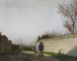 Country Lane with Peasant | LEon Bonvin | Oil Painting