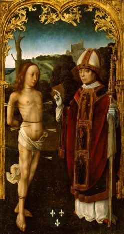 Saint Sebastian and a Bishop Saint | Master of the Virgo inter Virgines | Oil Painting