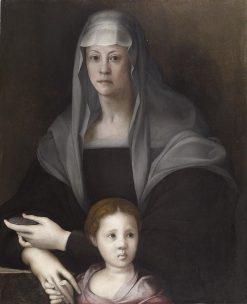 Portrait of Maria Salviati de' Medici with Giulia de' Medici | Pontormo | Oil Painting