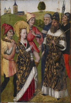 Saint Catherine Confronting the Emperor | Unknown   Flemish School th Century | Oil Painting