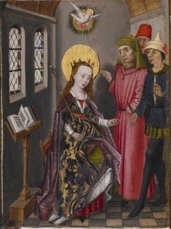 Scene from the Life of Saint Catherine | Unknown   Flemish School th Century | Oil Painting
