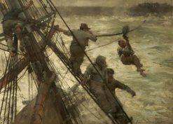 The Rescue | Sir Frank William Brangwyn | Oil Painting