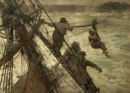 The Rescue | Sir Frank William Brangwyn | Oil Painting