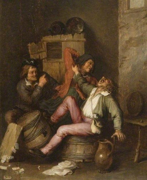 A Peasant Brawl   Adriaen van Ostade   Oil Painting