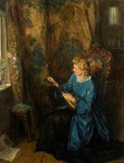 Lady with a Mandolin | George Harcourt | Oil Painting
