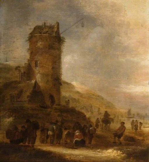 Landscape on the Coast with a Watchtower | Klaes Molenaer | Oil Painting