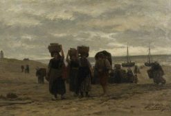 Return from the Boats | Philip Lodewijk Jacob Frederik SadEe | Oil Painting
