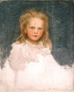 Portrait of a Small Girl with Fair Hair and Full Face | George Frederic Watts | Oil Painting