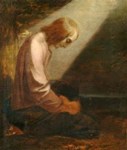 A Kneeling Figure (A Man of Sorrows) | George Frederic Watts | Oil Painting