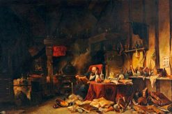 The Alchemist in His Laboratory | Eugene Isabey | Oil Painting