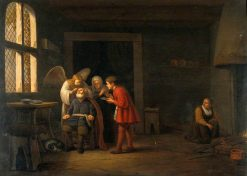 The Angel Raphael Curing the Blindness of Tobit | Hendrik Martensz. Sorgh | Oil Painting