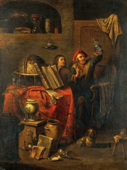 A Physician Examining a Urine Flask | Philips Koninck | Oil Painting